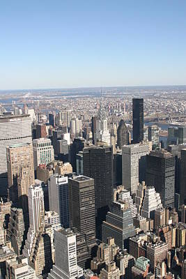 New York City - View From Empire State Building - 121217 Art Print by DC Photographer