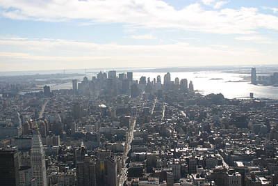 New York City - View From Empire State Building - 121222 Art Print by DC Photographer