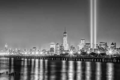 Photograph - New York City Will Never Forget Bw by Susan Candelario