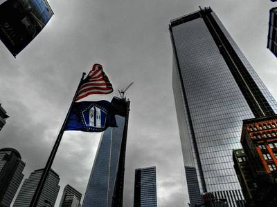 Photograph - New York City - Wtc Rebuilds by Lance Vaughn