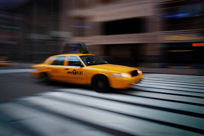 Photograph - New York City Yellow Cab  by Songquan Deng