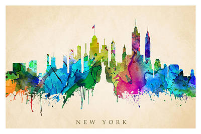 Digital Art - New York Cityscape by Steve Will