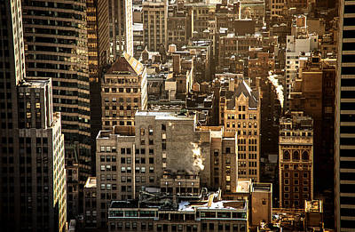 New York City Rooftop Photograph - New York Cityscape by Vivienne Gucwa
