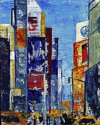 Nyc Mixed Media - New York Dreams by Cindy Johnston