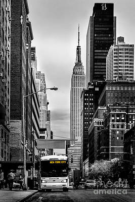 Bus Photograph - New York Express by Az Jackson