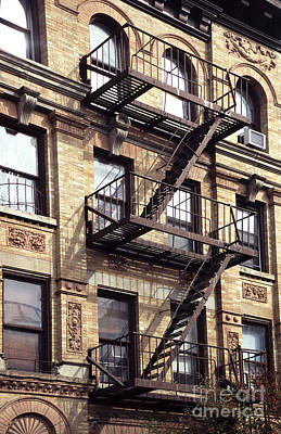Fire Escapes Photograph - New York Fire Escape by Liz Leyden
