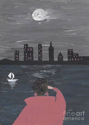 New York Full Moon Fairy Tale Art Print