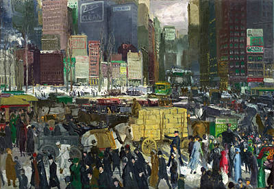 Famous Horse Art Painting - New York by George Bellows
