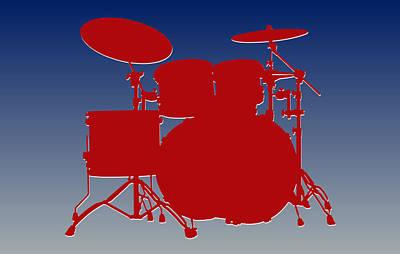 New York Giants Drum Set Art Print by Joe Hamilton