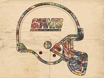 Quarterback Painting - New York Giants Football Helmet by Florian Rodarte