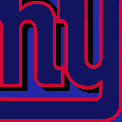 New York Giants Football Original by Tony Rubino