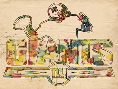 Painting - New York Giants Logo Art by Florian Rodarte