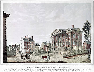 Federal Government Painting - New York Government House by Granger