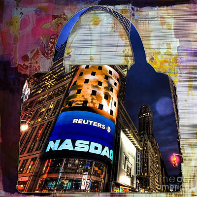 Mixed Media - New York Handbag by Marvin Blaine