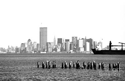 35mm Photograph - New York Harbor 1990s by John Rizzuto