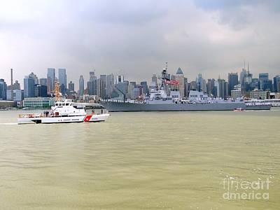 Photograph - New York Harbor by Ed Weidman