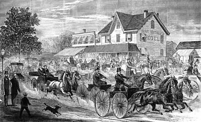 Painting - New York Harlem Lane, 1868 by Granger