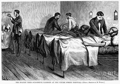 New York: Heatstroke, 1876 Art Print