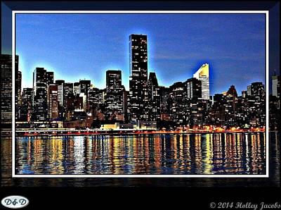 Digital Art - New York by Holley Jacobs