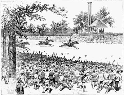 Race Horse Painting - New York Horse Race, 1887 by Granger