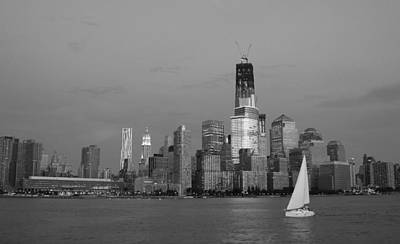 Skylines Royalty-Free and Rights-Managed Images - New York in black and white by Heidi Hermes