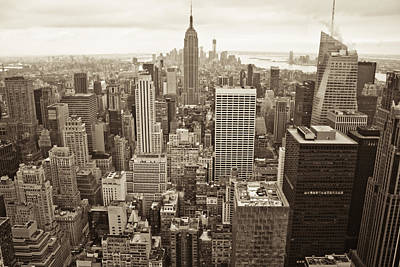 New York City Photograph - New York In Black And White  by John McGraw