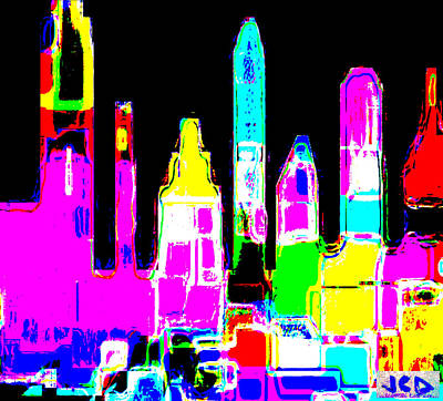New York Is Rejoicing Art Print by Jean-Claude Delhaise