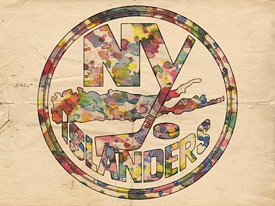 Ice Hockey Painting - New York Islanders Hockey Poster by Florian Rodarte