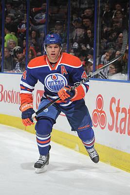 Photograph - New York Islanders V Edmonton Oilers by Andy Devlin