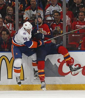 Photograph - New York Islanders V Florida Panthers - by Joel Auerbach