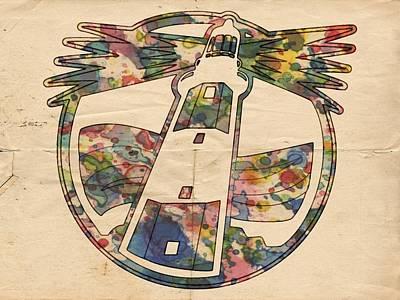 Hockey Painting - New York Islanders Vintage Poster by Florian Rodarte