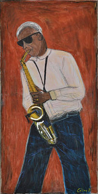 Pastel Painting - New York Jazzman by Rubino CELINE