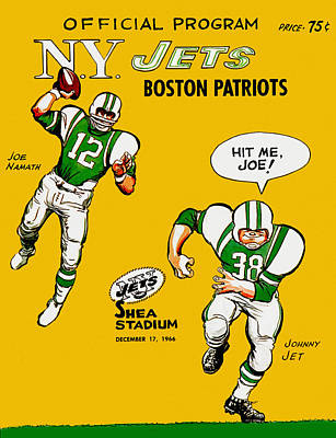 abc440d61 Joe Namath Wall Art - Painting - New York Jets 1966 Program by John Farr