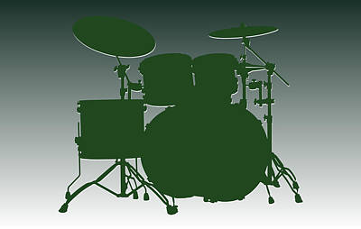 New York Jets Drum Set Art Print by Joe Hamilton