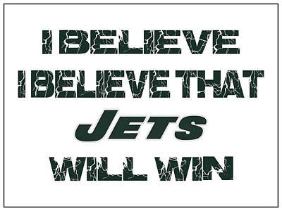 I Phone Covers Photograph - New York Jets I Believe by Joe Hamilton