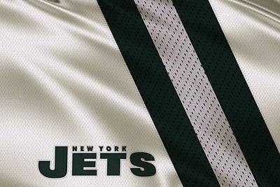 New York Jets Uniform Art Print by Joe Hamilton