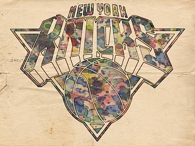 Painting - New York Knicks Poster Art by Florian Rodarte