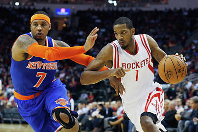 Photograph - New York Knicks V Houston Rockets by Scott Halleran