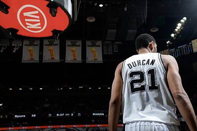 Photograph - New York Knicks V San Antonio Spurs by D. Clarke Evans
