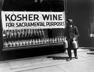 New York Kosher Wine For Sale Art Print by Underwood Archives