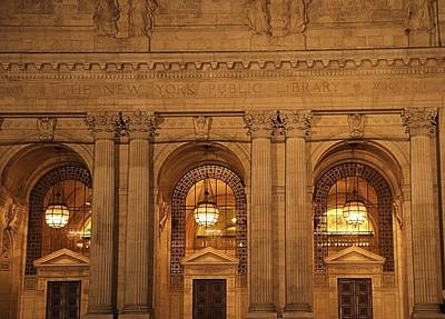 College Avenue Photograph - New York Library by Dan Sproul