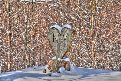 New York State Photograph - New York Love by Heather Allen