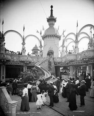 Helter-skelter Photograph - New York Luna Park, C1905 by Granger