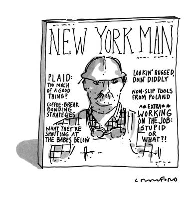 Construction Drawing - New York Man by Michael Crawford