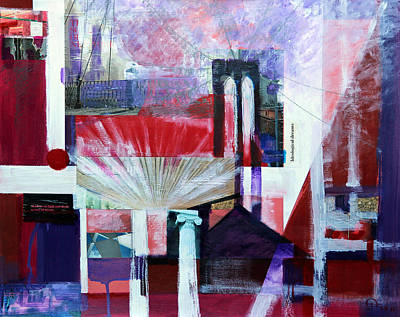 Painting - New York Metropolis 1 by Walter Fahmy