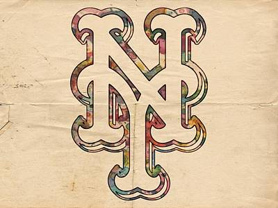 Painting - New York Mets Poster Art by Florian Rodarte