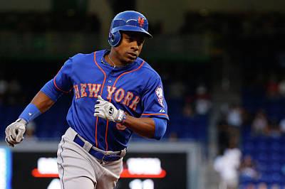 Photograph - New York Mets V Miami Marlins by Rob Foldy