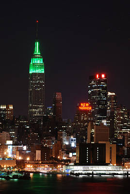 New York Night Photograph - New York Midtown  by Philip Ralley