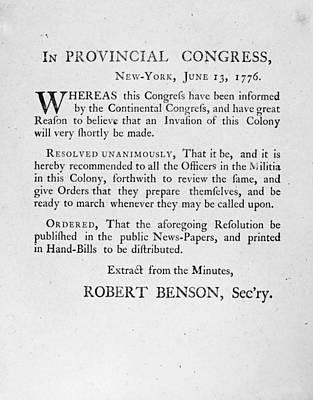 New York: Militia, 1776 Print by Granger