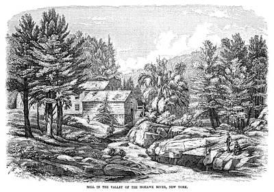 Mohawk Painting - New York Mohawk River by Granger